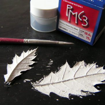 Fallen leaves made eternal in leaf fine silver jewellery