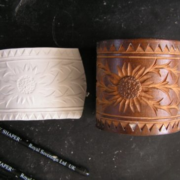 Silver clay molds based on antique wood carvings