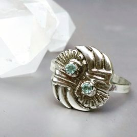 Zilveren ring met beryl