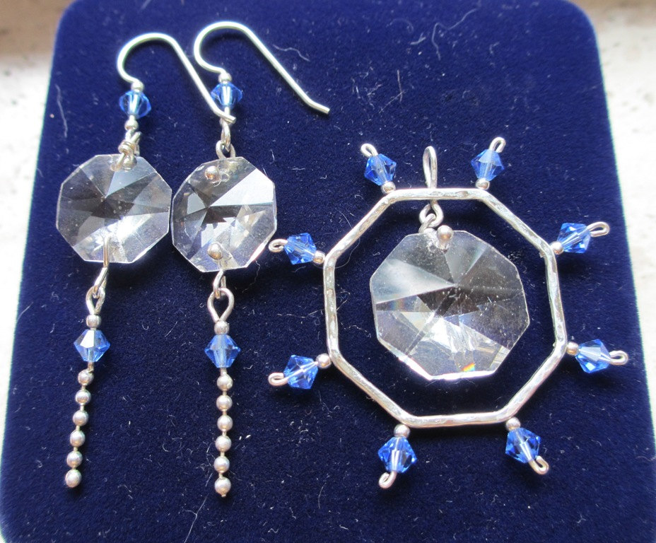 Nautical jewellery set blue white