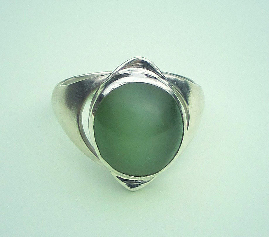 cats eye jade ring