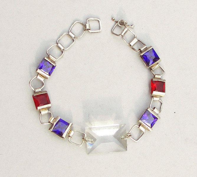 gourmette bracelet crystals