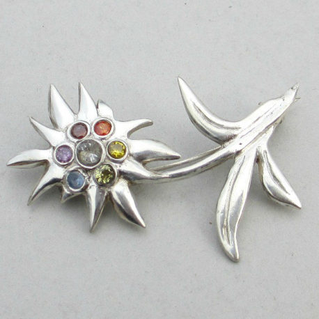 silver edelweiss pin