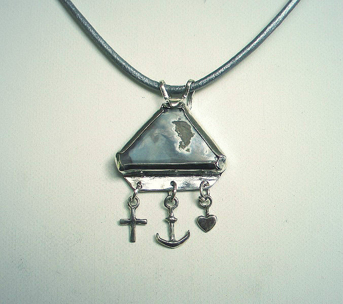 anchor heart cross necklace