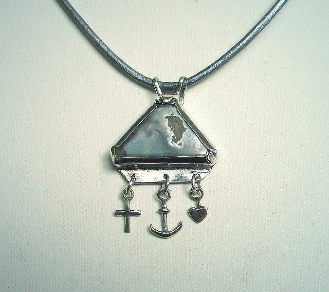 anchor heart cross necklace