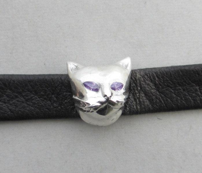 silver cat bracelet