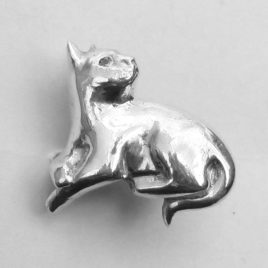 sculpted cat ring