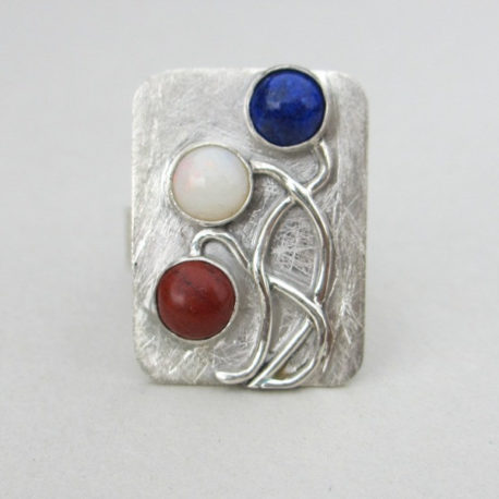 red white blue ring