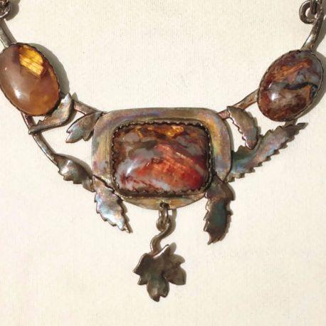 pietersite necklace neat