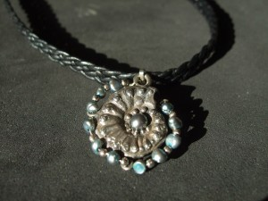 Black ammonite necklace