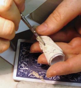 Работа с  металлоглиной: игральные карты - важный инструмент