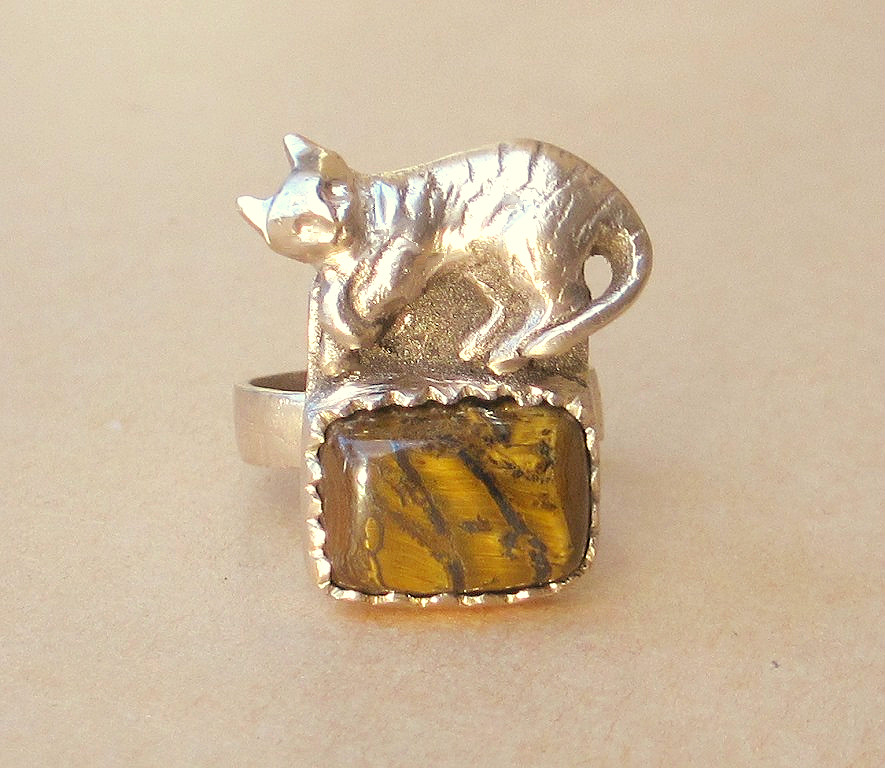 bronze cat ring