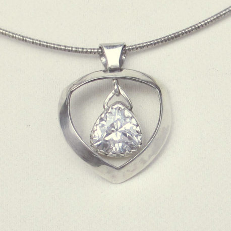 trillion Imitation diamond pendant