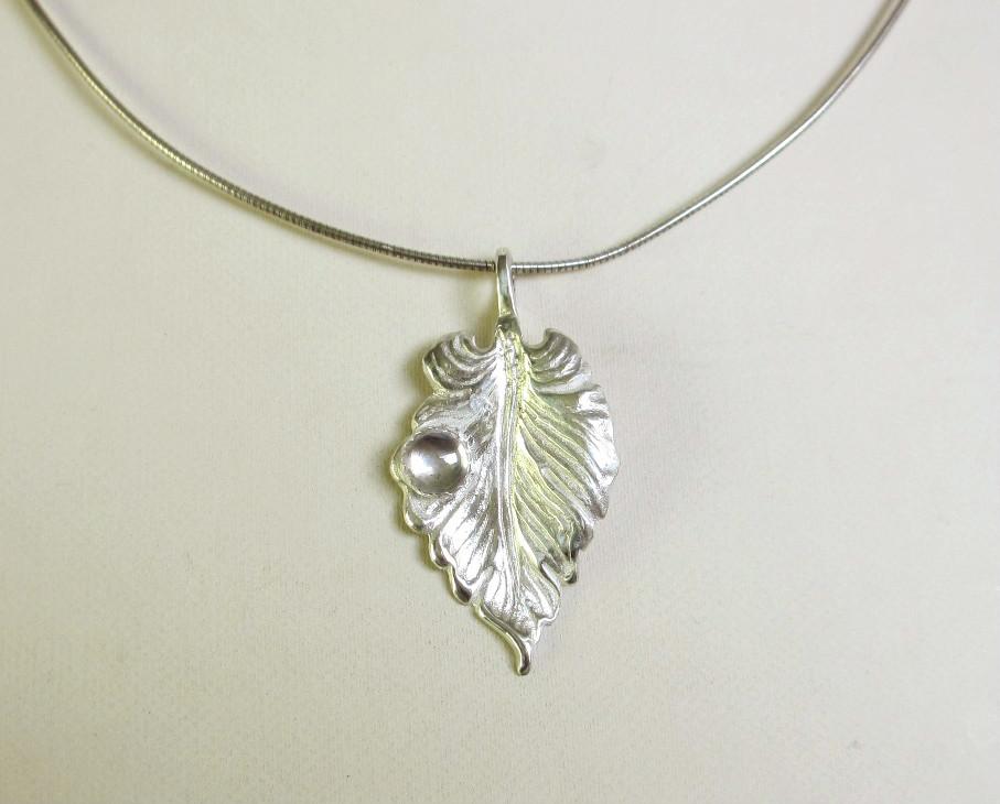 dew drop pendant silver 999 zilvera