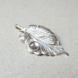 Dew drop pendant silver 999