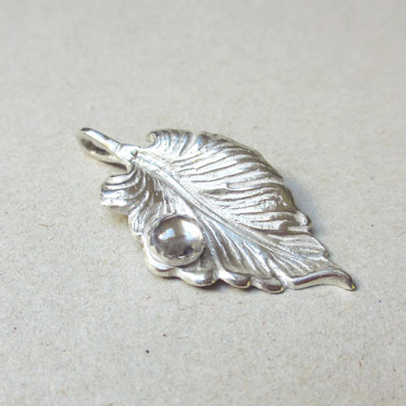 dew drop pendant silver