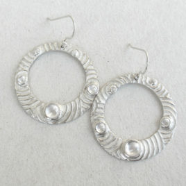 Circles hoop earrings silver 999