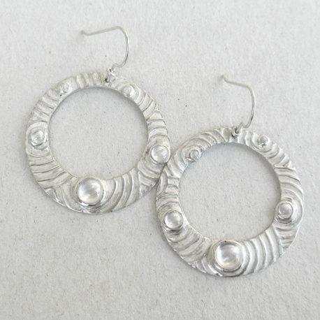 Circles hoop earrings silver
