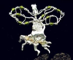 Precious metal clay projects: the tree of life (inspired by Pushkin)