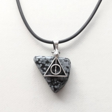 Black Deathly Hallows necklace