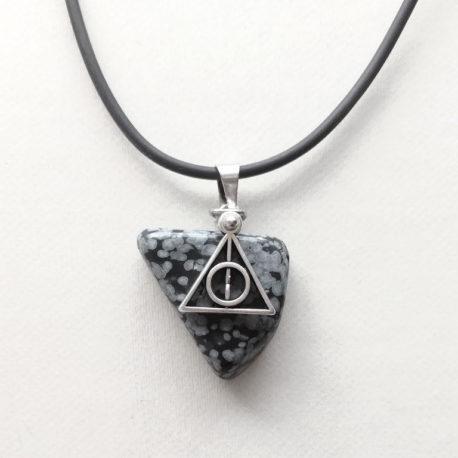 Black Deathly Hallows necklace
