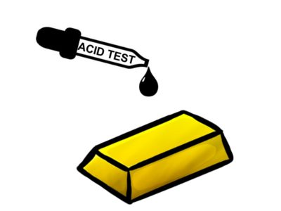 Testing silver with acid: what does the test show?